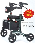 HEAVY DUTY 450 lb Capacity Roadrunner Rollator -FSS ITEM