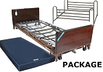 Low Height Bed, Full electric, with Full Length Side Rails and 80