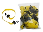 10 Pack yellow, extra light resistance band bulk