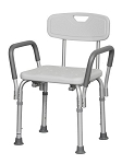 Shower Chair w/Back & Padded Arm