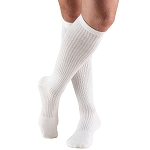 Xlarge WHITE MENS Casual-style Active Wear Support Socks