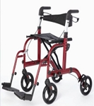 Translator: Rollator/Transport Chair RED
