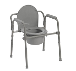 Folding Steel Commode- 350lbs