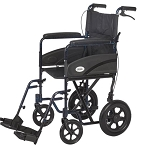 Lifestyles Transport Chair-Caregiver Brakes- Red Color