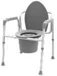 Steel 3 in 1 Commode, Elongated Seat-FSS ITEM