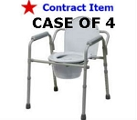 Commode Steel 3 in 1  Elongated Seat, 4 per Case-FSS ITEM
