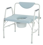 Bariatric Drop Arm Commode, Weight Cap: 1000 Lbs.