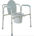 Bariatric Folding Commode 650 lb Cap