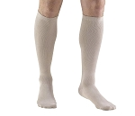 Xlarge DRESS TAN Men's Calf-length Dress-style Support Socks