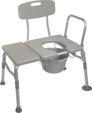 Combination Transfer Bench/Commode-400lb capacity