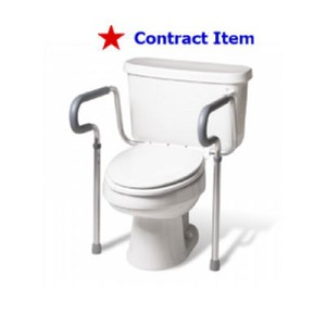 FSS ITEM Adjustable Toilet Safety Frame-Single Unit Boxed