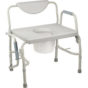 Bariatric Drop Arm Commode-1000 lb Capacity