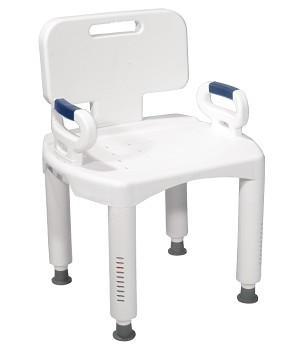 Composite Shower Chair with Removeable Arms-350lb capacity